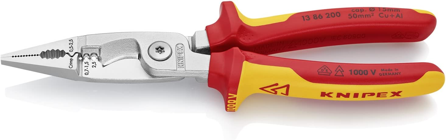 Knipex 13 86 New arrival 200 Pliers Max 45% OFF Installation Electrical for VDE-tested