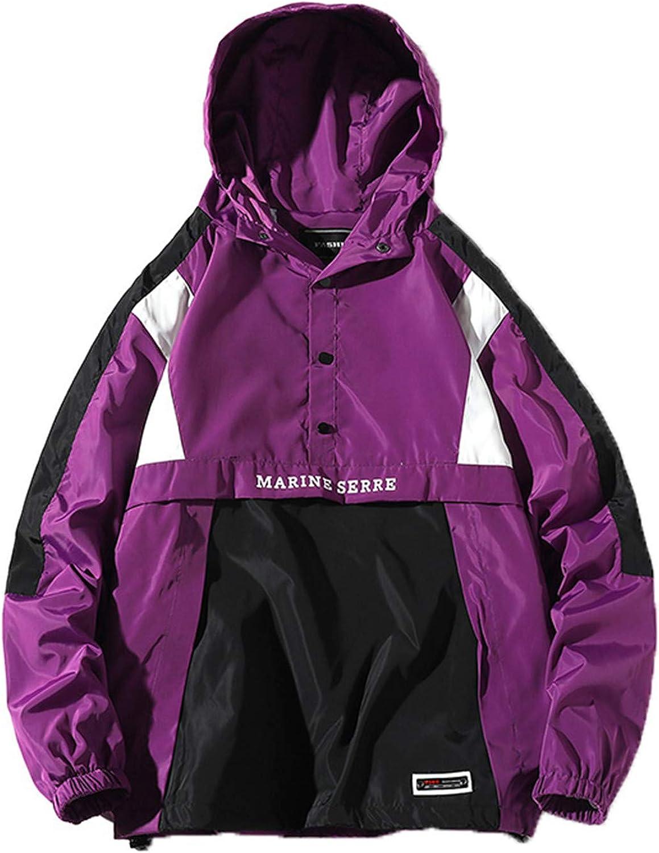 Kevents Hip Hop Autumn Jackets Men Windbreaker Patchwork Spring Loose Casual Zipper Tracksuit Streetwear