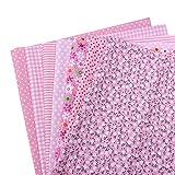 Collectsound, 7 pezzi di tessuto di cotone per cucire e per patchwork, motivo: floreale, per fai da te, trapunte, borse, fazzoletti, oggetti di artigianato (25 x 25 cm)