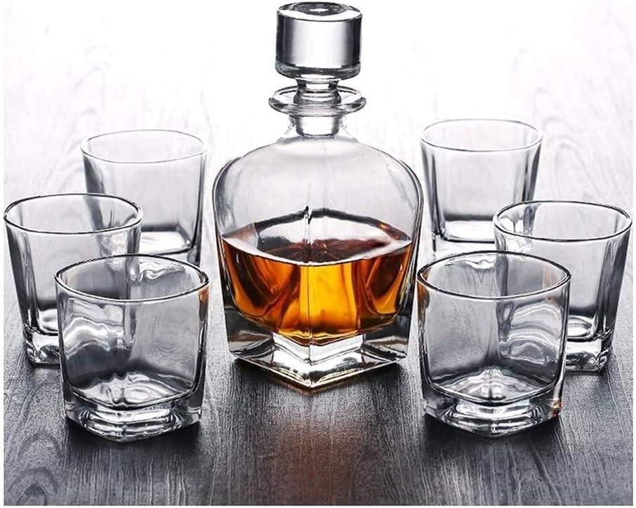 ZYF Wine 2021 spring and summer new Bargain Rack Whiskey Decanter Whisky Set Sobe of Glasses 7 Fast