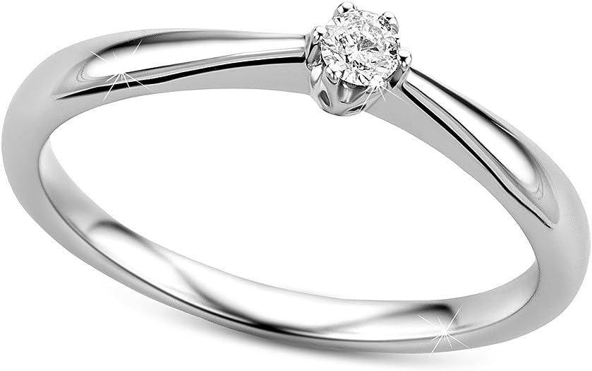 anillo de compromiso de oro on diamante solitario