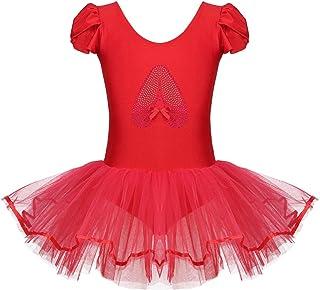 e427da9a8 IEFIEL Vestido Maillot Tutú de Ballet Danza para Niñas Ropa de Bailarina  Disfraz de Princesa Fiesta