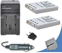 2 High Capacity Replacement Nikon EN-EL5 Batteries with AC/DC Quick Charger Kit Made for Nikon Coolpix P520 Digital Camera