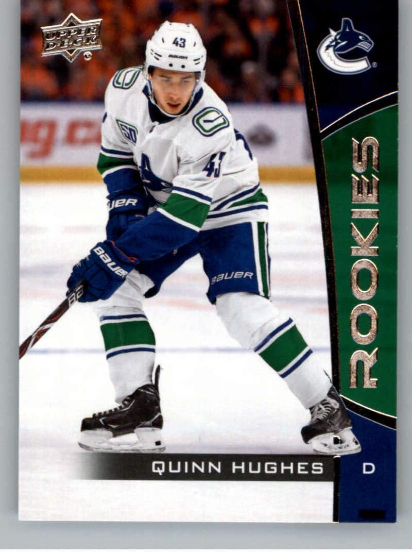 2019-20 Upper Deck NHL Rookie Card 高い素材 From Box Hugh Set 物品 #14 Quinn