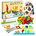 SpringFlower See & Spell Matching Letter Toy,Learning Educational Toy For 3 4 5 6 Years Old Boys And Girls,Preschool Learning Activities,Shape & Color Recognition Game,Cvc Word Builders For Kids,80Pcs from Shang Gao Xian Fang Bei Gong Yi Pin You Xian Gong
