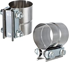 Lap Joint Exhaust Band Clamp 2.5inch- Preformed Stainless Steel Lap Joint Clamp with 1 Block for 2.5