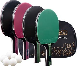 Senston Ping Pong Paddle Set of 4-Pro Premium Table Tennis Paddles
