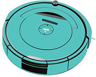 MightySkins Skin Compatible With iRobot Roomba 690 Robot Vacuum - Solid Turquoise   Protective, Durable, and Unique Vinyl Decal wrap cover   Easy To Apply, Remove, and Change Styles   Made in the USA