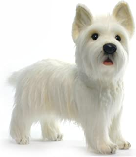 HANSA West Highland Dog Collectible Plush, White, 20