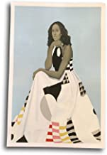 Greekanda Hello Africa Laminated Official Portrait of Michelle Obama Poster Print 18 X 12 Black History Month Custom Made Collectors Item