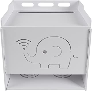 Saim Multi-Function WiFi Router Storage Boxes Shelf for Home and Office, Simple, Easy to Install, Large-4 Layer