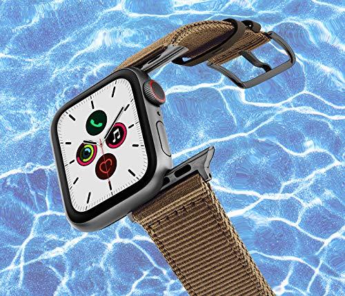 MERIDIO Turtle | Cinturino ottenuto dal riciclo della plastica recuperata dall'Oceano. Resistente all'Acqua Compatibile con Smartwatch iOS Series 6|SE|5|4|3|2|1 | Alluminio Grigio siderale, 42-44 mm