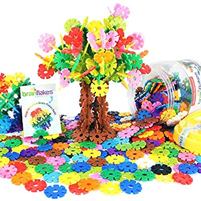 Brain Flakes 500 Piece Interlocking Plastic Disc Set - A Creative and Educational Alternative to Building Blocks - Tested for Children's Safety - A Great Stem Toy for Both Boys and Girls from VIAHART