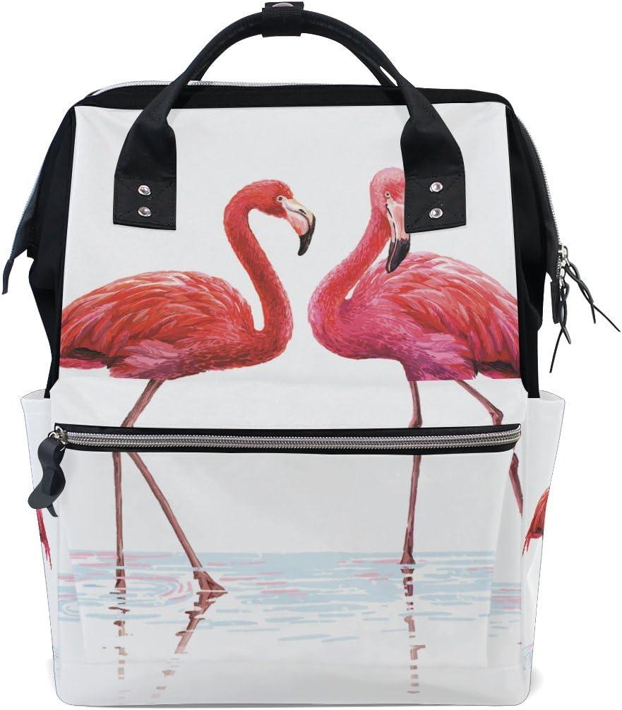 Funny Water Flamingo School Backpack Shoulder Max 71% OFF Sty Bookbag Genuine Travel