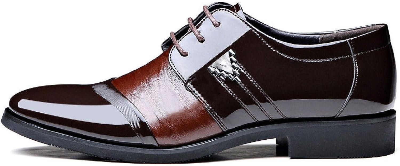 b53dcf01e40cfe LEDLFIE Herrenschuhe Tipps Schnürsenkel Business Business Business Leder  Schuhe Nähen Mischfarben Single Schuhe 09f362