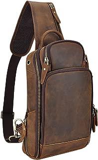 Genuine Leather Sling Bag Chest Bag