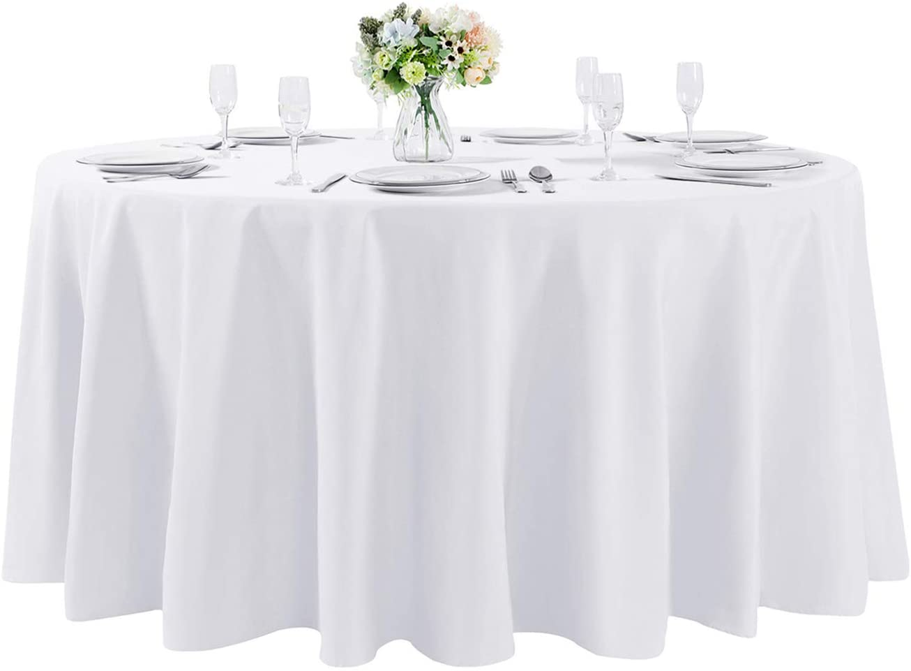 108 inch Round Tablecloth Washable Table Decorat Polyester Cloth Ranking TOP16 Free shipping on posting reviews