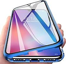 Orgstyle Funda para Samsung Galaxy A51, Absorción Magnética Cubierta Vidrio Frontal y Posterior Case Marco Metal Súper Delgada Protección de 360 Grados Caso para Samsung Galaxy A51, Azul