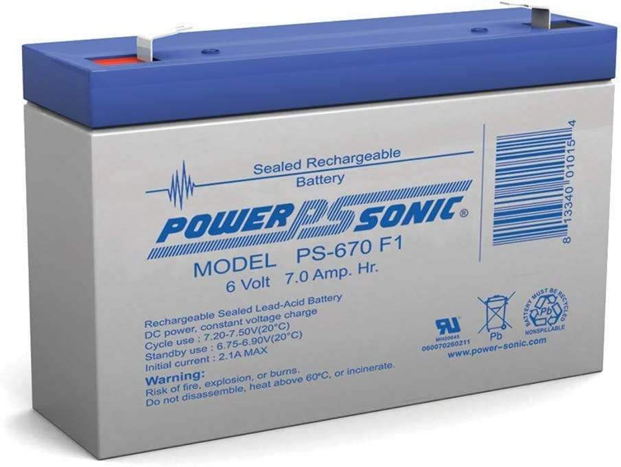 Powersonic Miami Mall 6V 7AH UB685 PS-682 PS7-6 Batter Rechargeable Sealed Max 60% OFF