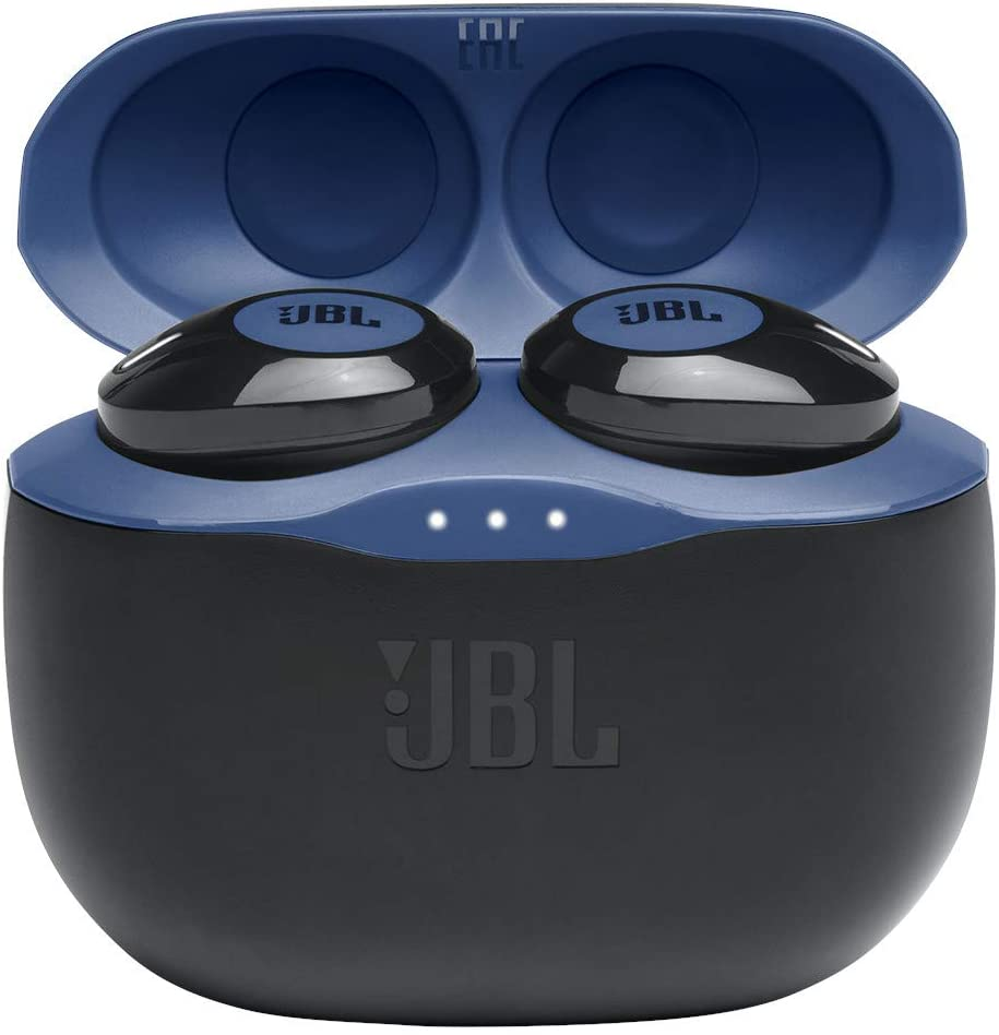 JBL Tune 125TWS True Wireless In-Ear Headphones - JBL Pure Bass Sound, 32H Battery, Bluetooth, Fast Pair, Comfortable, Wireless Calls, Music, Native Voice Assistant (Blue)