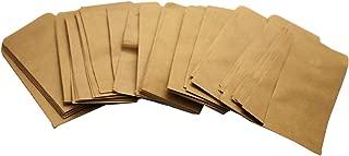 Walkingpround 100 Pieces Vintage Hybrid Seed Envelopes Blank Kraft Paper Brown Seed Bags Tobacco Seeds Corn Farm Bag (2.36
