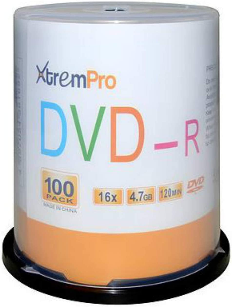 XtremPro DVD-R 16X 4.7GB 120Min Max 75% OFF DVD Spin in Blank Pack Discs 100 National uniform free shipping