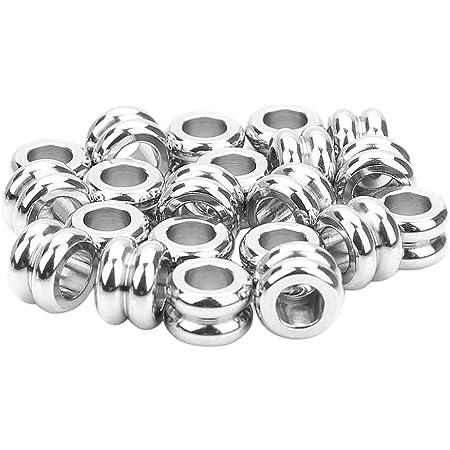 Wholesale 5 Packs de tube en acier inoxydable Perles Intercalaires 5 x 6 mm Argent 5x5 pcs