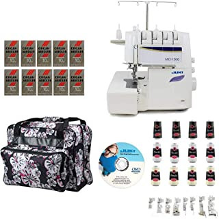 Juki MO-1000 2/3/4 Thread Overlock Serger with Push-Button Air Supported Threading w/ Limited time Serger Package!
