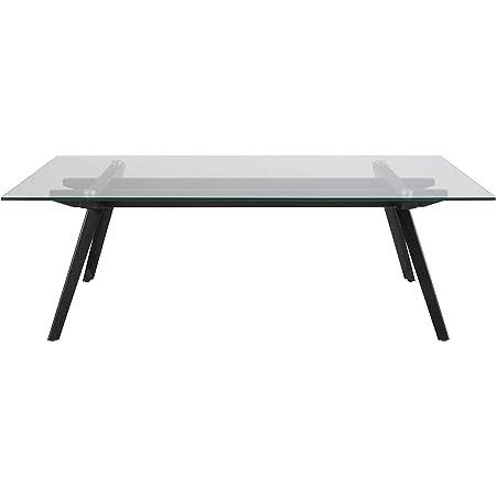 Marque Amazon - Movian Moiry - Table basse en verre trempé, 60 x 120 x 40 cm