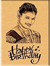 Incredible Gifts India Gift Ideas for Women Birthday Gifts - Engraved Photo Plaque (Wood, 5x4 inches, Beige)