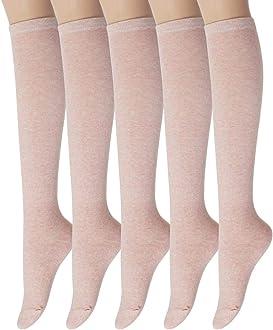 Sockstheway Womens Casual Knee High Over Knee Socks Twist Knit Pattern Vintage Socks