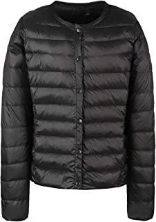 Macondoo Women Lightweigth Puffer Packable Button Down Coat Down Jacket