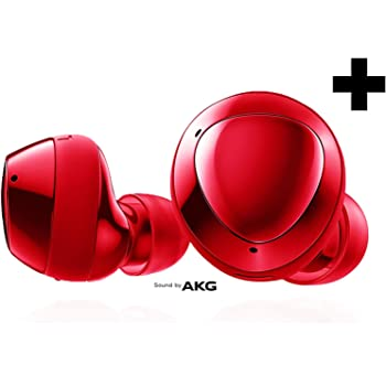 Samsung Galaxy Buds+ Plus, True Wireless Earbuds w/Improved Battery and Call Quality (Wireless Charging Case Included), (International Version) (Red)