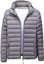 Men Casual Winter Jacket Coat Solid Warm Zipper Long Sleeve Outwear Tops