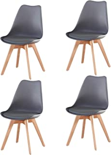 Meihua Kitchen Chair,Modern Black Dining Room Chair,Mid...