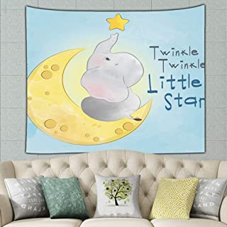jtykftuf Twinkle Little Star Animals Wildlife Animal Tapestry Bohemian Tapestry Hippie Tapestry Bedroom Living Room Dorm Art Wall Hanging 50ʺ × 60ʺ