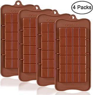 Break Apart Chocolate, SourceTon 4 piezas aprobado por la FDA calidad alimentaria antiadherente barra de