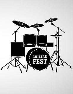 Guiltar Fest: 6 String Guitar Chord and Tablature Staff Music Paper for Guitar Players, beginner kids, Musicians, Teachers...