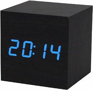 comprar comparacion Reloj digital - SODIAL(R) Reloj despertador / reloj de mesa digital de madera con puerto USB, funciona con baterias AAA - ...