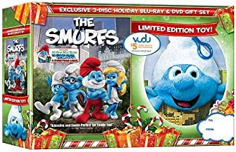 The Smurfs (Blu-ray + Standard DVD + The Smurfs: A Christmas Carol) (with Plush Toy Backpack Clip)