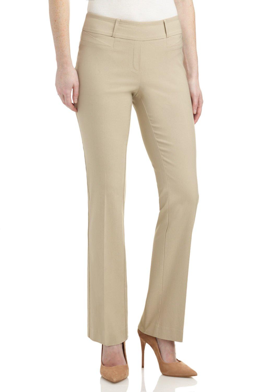 Pantalon pour Femme « Coupe Confort Facile à Enfiler » Extensible et Semi-évasé