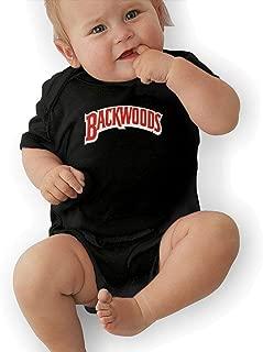 Backwoods Unisex Kids Short Sleeve Baby Onesie Black