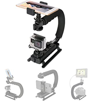 Fantaseal 4in1 DSLR/ Mirrorless /Action Camera +Camcorder +Smartphone Stabilizer Holder We-media Youtube Vlog Low Position Video Rig Mount Fit for GoPro Sony DJI OSMO ACTION Nikon Canon iPhone Samsung