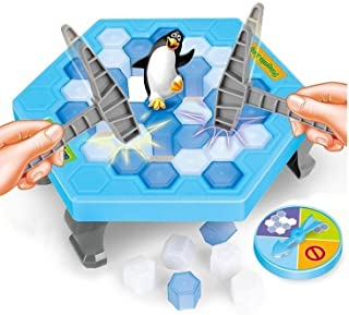 D.O.T Penguin Trap Puzzle Table Game Break Ice To Save Penguin Game Toy Set