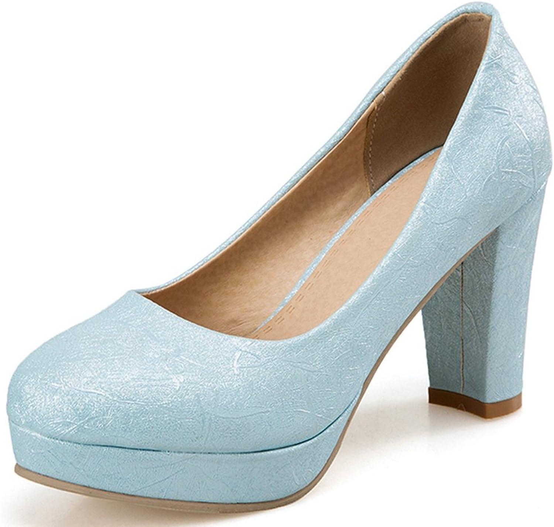 SaraIris Women's Chunky High Heel Court shoes Party Wedding Office Pumps