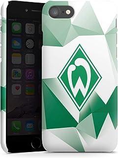 DeinDesign Premium Case kompatibel mit Apple iPhone 8 Smartphone Handyhülle Hülle matt SV Werder Bremen Tarnmuster Offizielles Lizenzprodukt