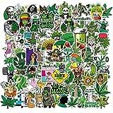 Cool Weed Aufkleber 100 Stück,Weed Stickers für Kinder und Teens Erwachsenen,Anime Marihuana Vinyl Aufkleber für Laptop,Auto, Motorräder,Fahrrad,Skateboard,Wasserdicht Graffiti Sticker...