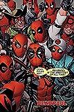 Deadpool Póster Marvel Okay Folks. (61cm x 91,5cm) + Embalaje para Regalo