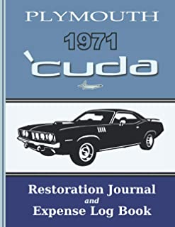 1971 'CUDA - Restoration Journal and Expense Log: Document the progress of your car's restoration, and keep track of parts...