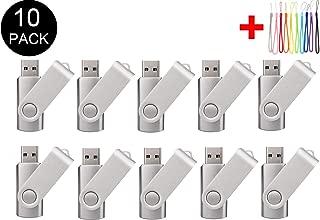 10PCS 2.0/3.0 USB Flash Drive Pen Drive Memory Stick Thumb Stick Pen Black (2.0/8GB, Silver)